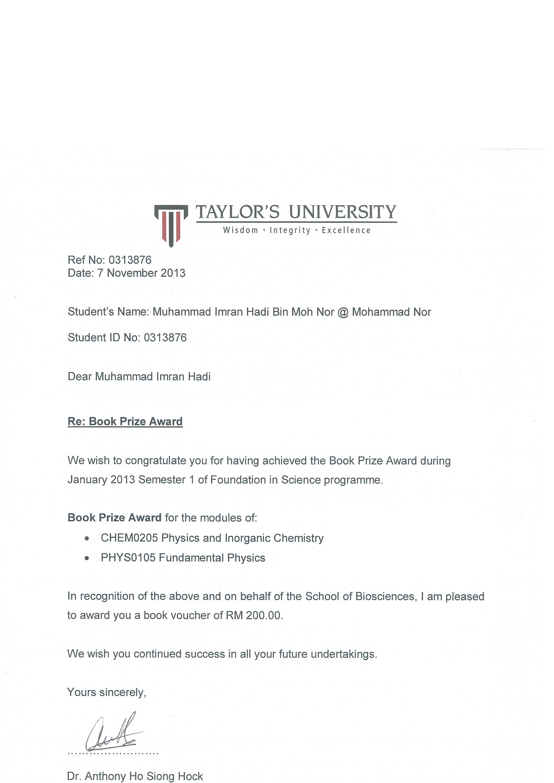 Taylor S University Lakeside Campus Imran Hadi Medical Student